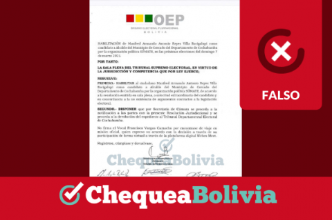 Captura del documento falso que se comparte por Facebook y WhatsApp.